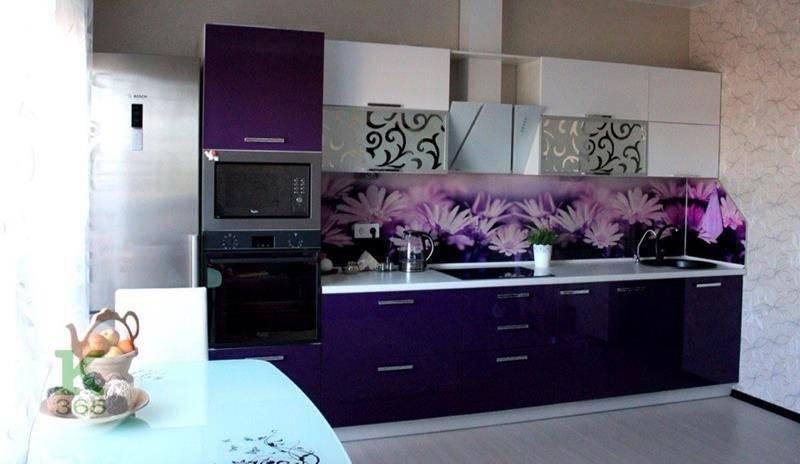 Акриловая кухня Цветы артикул: 00086260